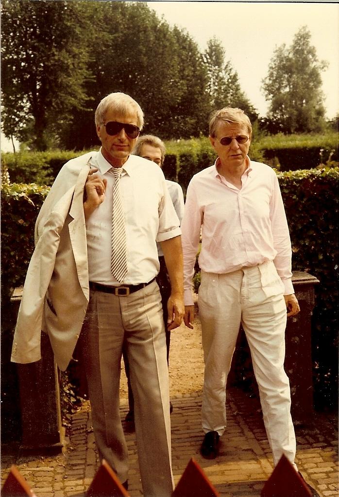 Met Hans Magnus Enzensberger en Eduardo Sanguinetti, Muiden 1984