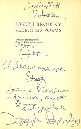 Brodsky dedication
